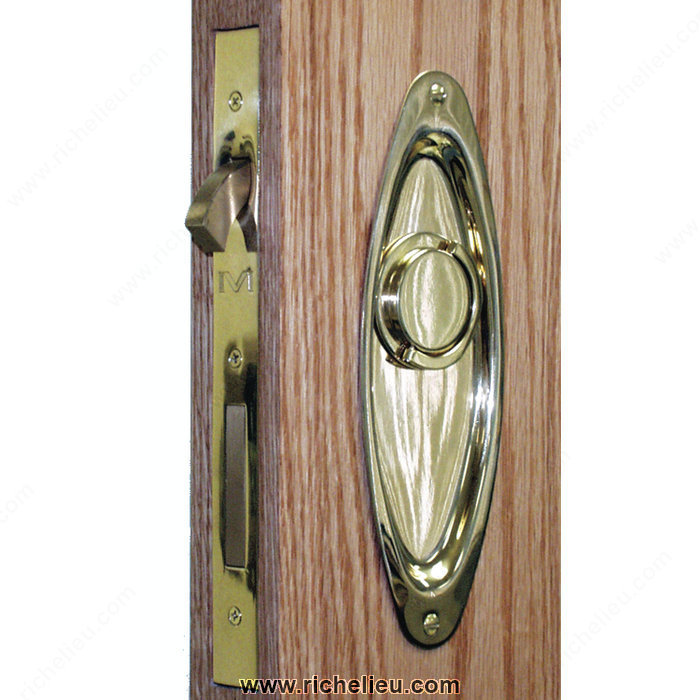 verrou et loquet de porte escamotable style de plaque rectangulaire quincaillerie richelieu. Black Bedroom Furniture Sets. Home Design Ideas