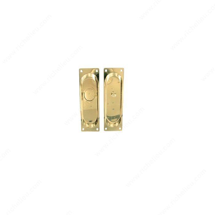 Pocket Door Privacy Lock U0026 Latch   Plate Style: Rectangular   Richelieu  Hardware