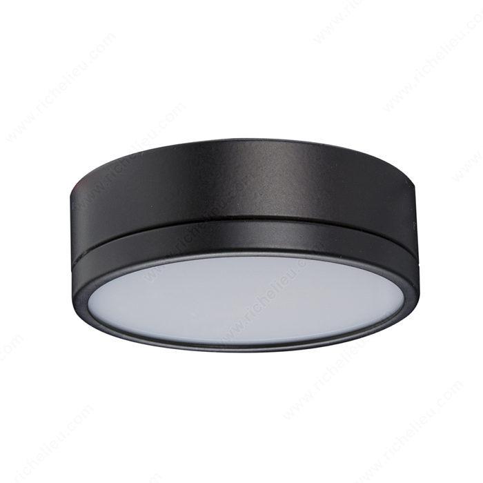 led 2w pila puck light black finish richelieu s 1st wireless lighting. Black Bedroom Furniture Sets. Home Design Ideas