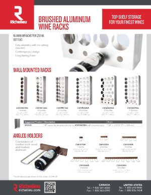 Brushed Aluminum Wine Racks