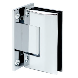 90° Glass-to-Wall Hinge with Full Back Plate - Optimum Series