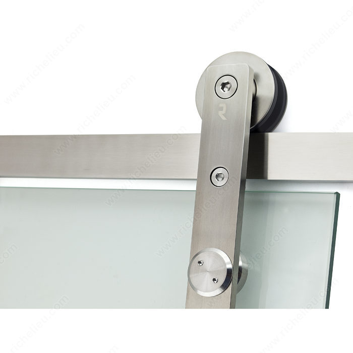 Connect glass door wall mount sliding system richelieu for Sliding glass door wall system