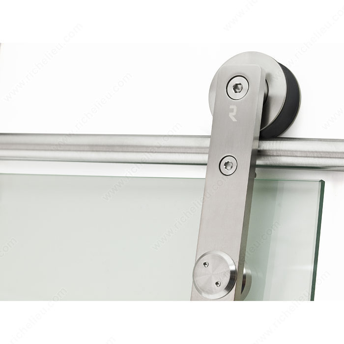Logo glass door wall mount sliding system richelieu for Sliding glass door wall system