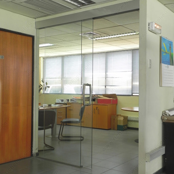 Top sliding system for standard inlay installation dn for Commercial interior sliding glass doors