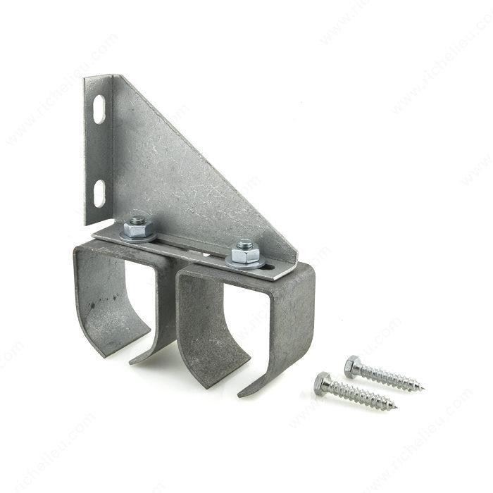 Support double en acier au fini galvanis fixation for Fixation porte coulissante suspendue
