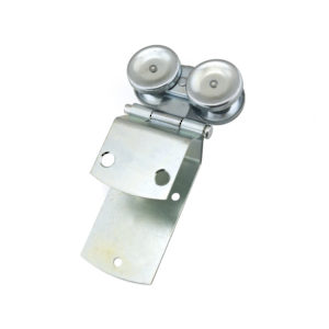 Dual Axis Box Rail Hanger with Ball Bearings and Apron Mounting Hinge