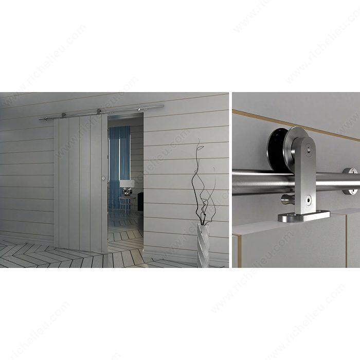 Industrial Sliding Doors : The industrial barn door sliding style kit with m