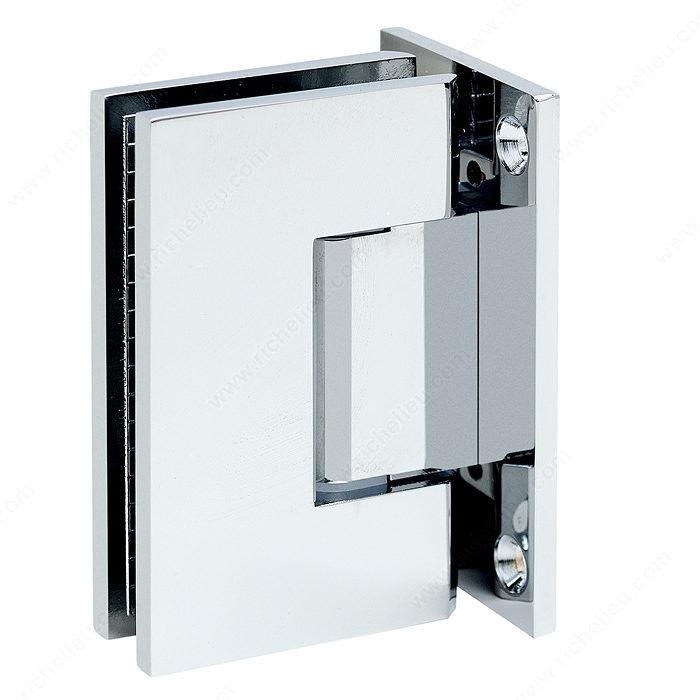 Charni re verre mur 90 plaque de fixation compl te for Miroir 50in projector specs
