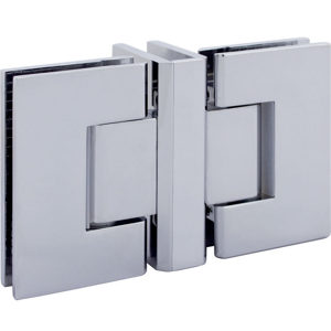 90° Glass-to-Glass Hinge with 3-Way - Square Series