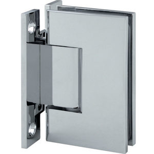 "90° Glass-to-Wall Hinge with ""H"" Back Plate - Square Series"
