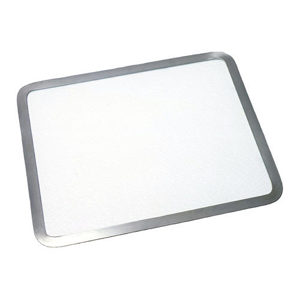 Glass Cutting Board with Steel Contour