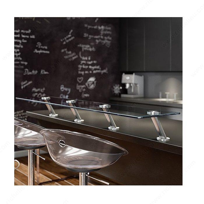 Adaptateur rond pour coller une plaque de verre for Plaque de verre pour cuisine