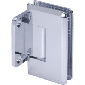 90° Glass-to-Wall Hinge with Short Back Plate - Beveled Heavy Duty Series