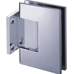 90° Glass-to-Wall Hinge with Short Back Plate - Square Series