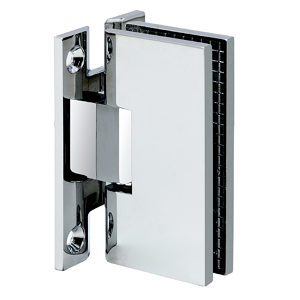 "90° Glass-to-Wall Hinge with ""H"" Back Plate - Square Compact Series"