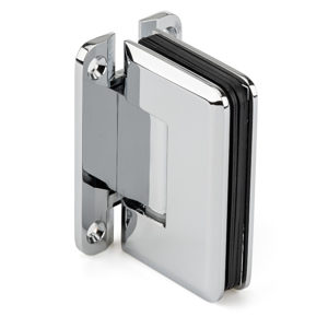 "90° Glass-to-Wall Hinge with ""H"" Back Plate - Beveled Series"