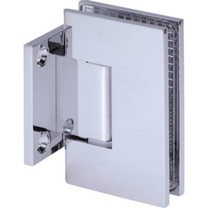 90° Glass-to-Wall Hinge with Short Back Plate - Square Heavy Duty Series