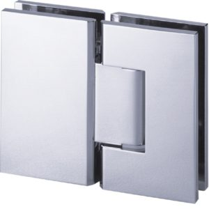 180° Glass-to-Glass Hinge - Square Heavy Duty