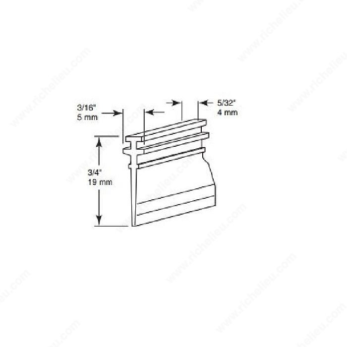 T Style Shower Door Seal Richelieu Hardware