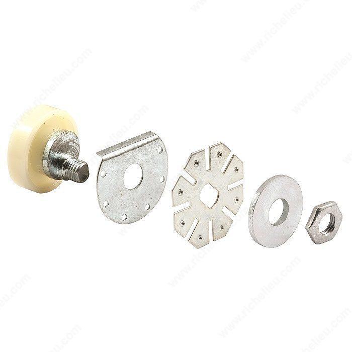 roulette bande de roulement plate ajustable pour porte de douche quincaillerie richelieu. Black Bedroom Furniture Sets. Home Design Ideas