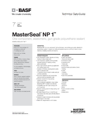 MasterSeal NP 1 - Richelieu Hardware