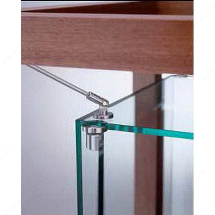 Charni re pivot pour porte en verre de vitrine de verre for Miroir 50in projector specs