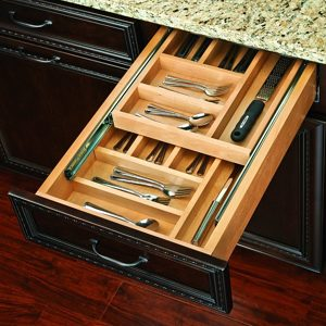 Two-Tiered Cutlery Drawer without Slides