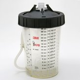 High Output Pressure Cup and Collar - 3M Paint Preparation System - 29 oz