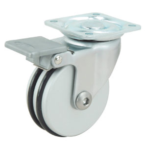 Contemporary Aluminium Furniture Caster - With Brake