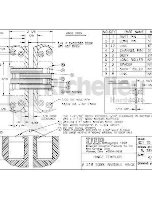 Concealed Steel Hinge - Model #218 - Richelieu Hardware