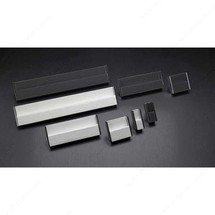 Contemporary Leather And Metal Edge Pull 9501