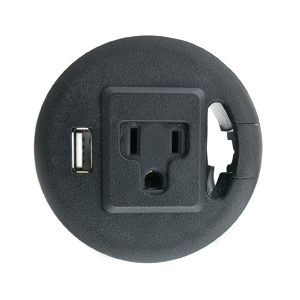 Grommet with 1 USB Charge Port and 1 Outlet