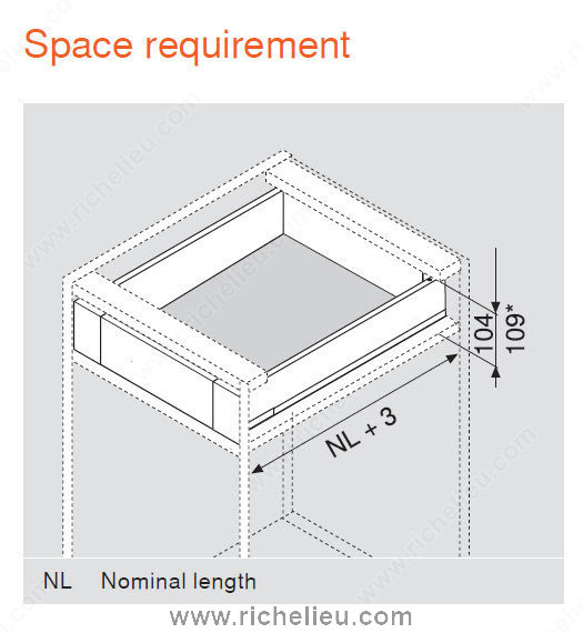 Inner Drawer M Height Richelieu Hardware