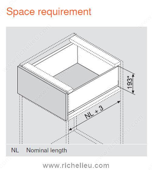 C Height Standard Drawer Blumotion Richelieu Hardware