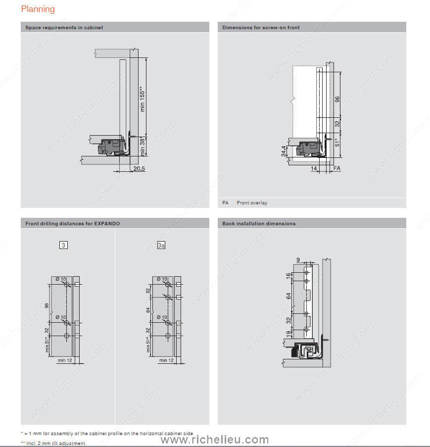 Standard Drawer C Height Richelieu Hardware