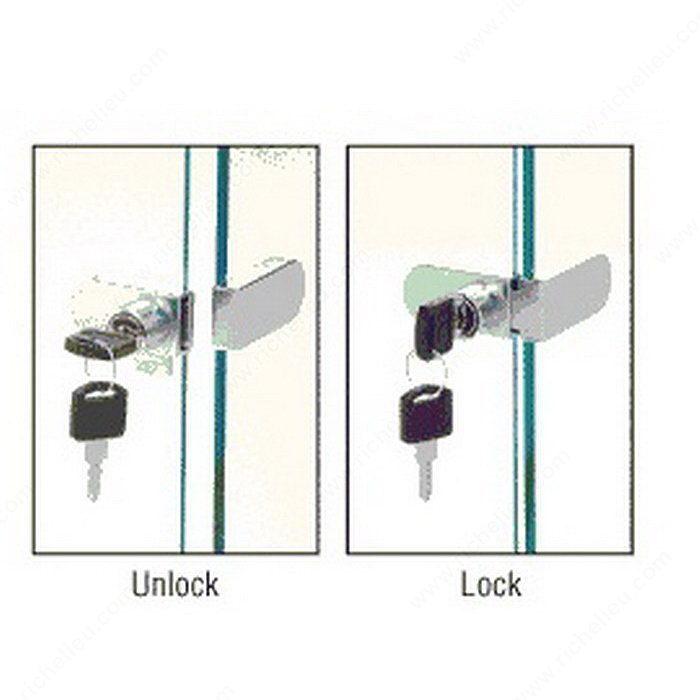 glass door lock no drilling required 2