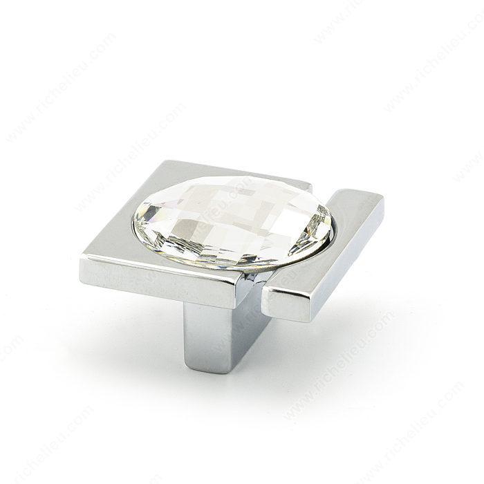 Contemporary Knob With Swarovski Crystal 9100
