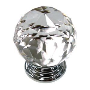 Eclectic Metal and Acrylic Knob - 10088