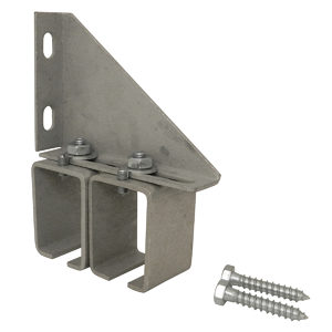 Double Adjustable Galvanized Steel Box Rail Bracket with Lag Screws for Wall Mounting