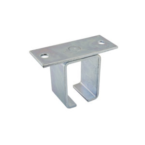 Single Zinc-Plated Steel Box Rail Bracket - Overhead Mount