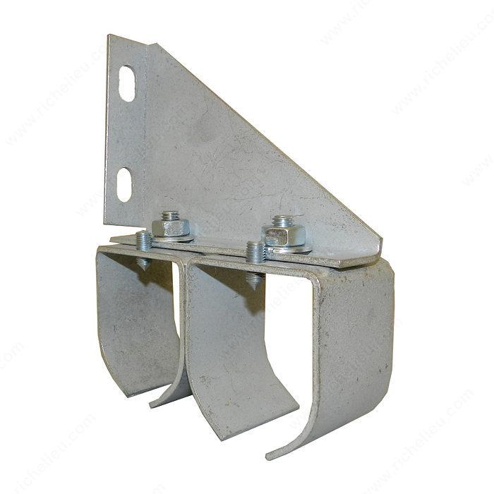 Double Galvanized Steel Round Rail Connection Bracket Richelieu Hardware