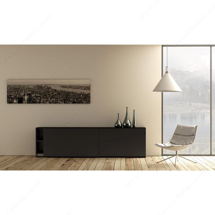 a fil 2 coplanar system for 2 wide cabinet doors richelieu hardware. Black Bedroom Furniture Sets. Home Design Ideas