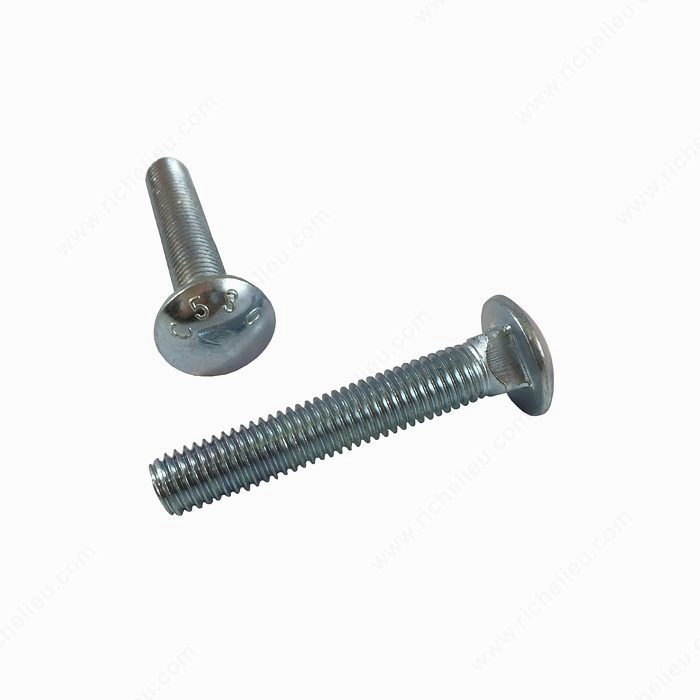 Carriage Bolt - Flat Washer and Hexagonal Nut Included: No-1