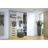 System for Lateral Bi-Fold/Pocket Doors. HAWA-Folding Concepta 25