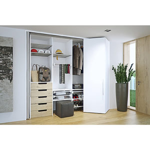HAWA-Folding Concepta 25 for Slide-in Bifold Pocket Door
