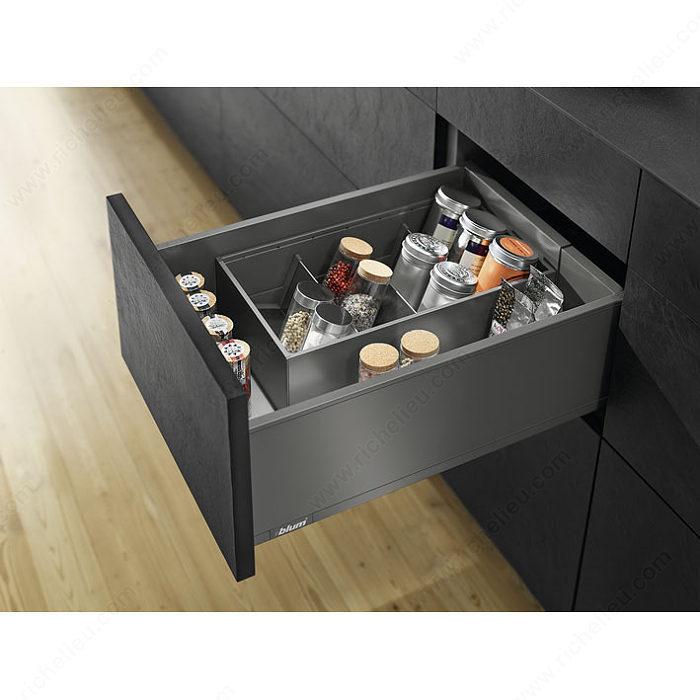 range pices pour tiroir legrabox quincaillerie richelieu. Black Bedroom Furniture Sets. Home Design Ideas