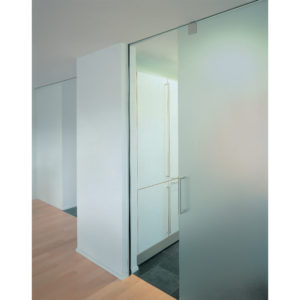 HAWA-Junior 120/GP Top Hung Sliding System for Glass Doors with Fixed Glass