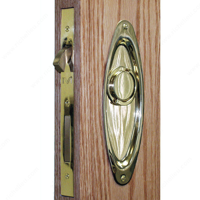 Pocket Door Privacy Lock Amp Latch Plate Style Oval