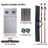 3rd Hand Magnetic Dust Barrier Door System