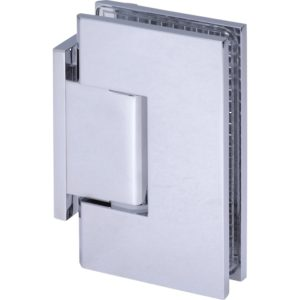90° Glass-to-Wall Hinge with Offset Back Plate - Square Heavy Duty Series